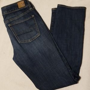 American Eagle straight leg jeans.  Size 8